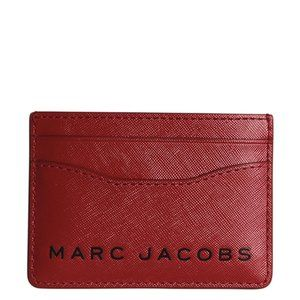 Marc Jacobs Leather Red Leather Card Holder 190481